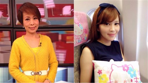 中天主播馬千惠(右)和三立前主播敖國珠/臉書