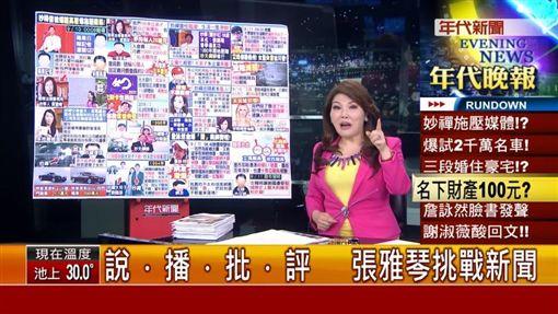 張雅琴,年代新聞片段(圖/翻攝自YouTube)
