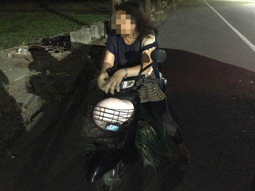 雲林婦人酒駕偷青蔥,罵警瘋查某妨害公務(圖/雲林縣虎尾分局提供)