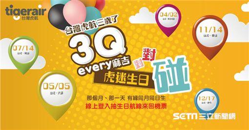 台灣虎航三週年系列活動。(圖/台虎提供)