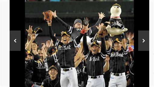 ▲軟銀鷹獲得太平洋聯盟隊史第20次優勝。(圖/截自日本媒體)
