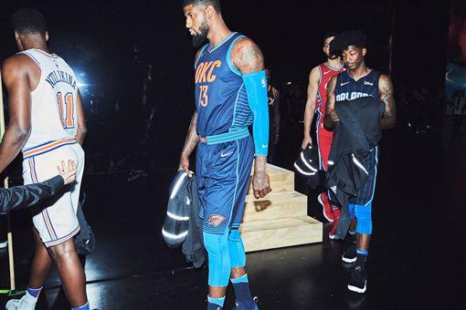 NBA新球衣發布會。(圖/NIKE提供)