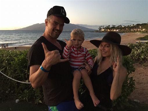菲姬(Fergie)和喬許杜哈莫(Josh Duhamel)/臉書