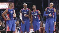 LeBron James,Carmelo Anthony,Chris Bosh,Dwyane Wade,03梯,2013明星賽(ap)