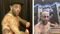 澳洲48歲男子霍頓全身近90%都刺青,連生殖器、眼球刺滿(Tattboy Holden)(圖/翻攝自tattboyholden IG)