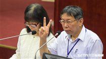 台北市長柯文哲20日赴市議會進行施政報告 圖/記者林敬旻攝