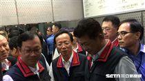 陳景峻於新任警察局長陳嘉昌出席首場治安會報後開記者會 盧冠妃攝