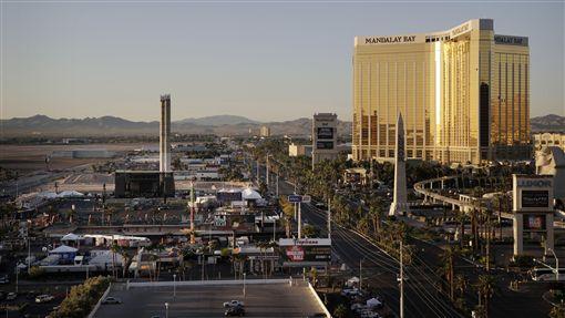 拉斯維加斯,槍擊,賭客,賭城,屠殺,氣氛,低迷(圖/美聯社/達志影像)
