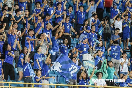 中華男足對上巴林觀眾席 圖/記者林敬旻攝