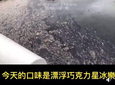 粉專「只是堵藍」PO愛河髒水,臉書
