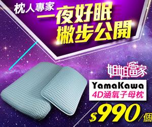 【YAMAKAWA】日本4D涵氧立體可調式透氣子母枕