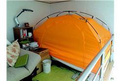 這個冬天,韓國人在臥室裡睡帳篷