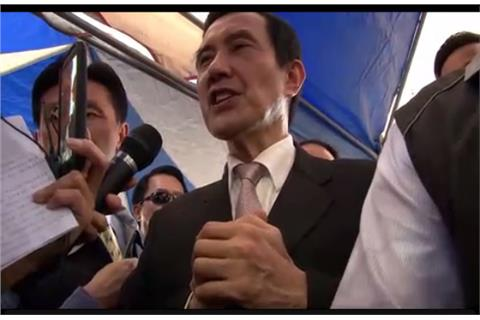 總統馬英九說良心話、良心手勢(圖/翻攝自良心時代運動官網)