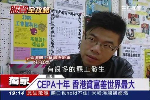 CEPA十年 香港貧富差世界最大