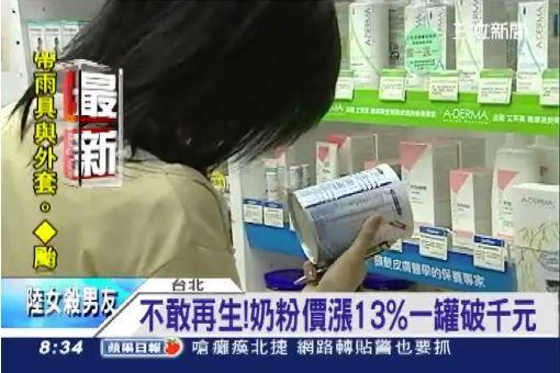 不敢再生!奶粉價漲13%一罐破千元