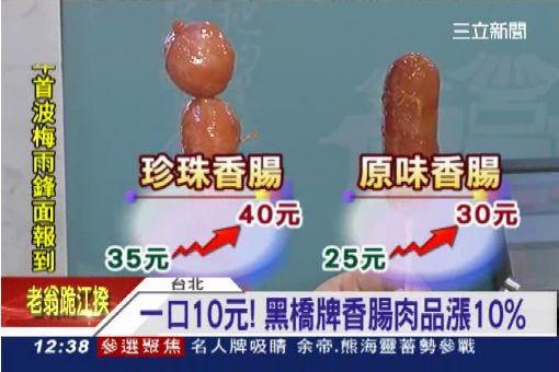 一口10元!黑橋牌香腸肉品漲10%│三立新聞