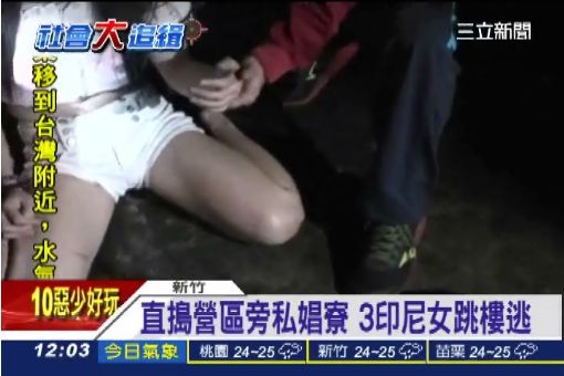 直搗營區旁私娼寮 3印尼女跳樓逃|三立新聞台