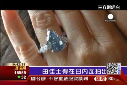 史上最大極品藍鑽 7.17億台幣拍出│三立財經台CH88