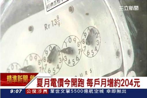 夏月電價今開跑 每戶月增約204元