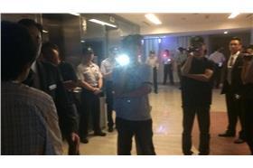 0625王張會飯店-華航富諾特旅館已經戒嚴了(圖/翻攝自民主鬥陣 Democracy Tautin臉書)