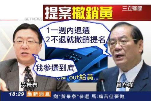 郝提案 藍常會撤黃景泰參選資格
