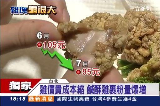 雞價貴成本縮 鹹酥雞裹粉量爆增