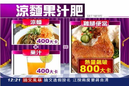 涼麵+果汁當一餐 熱量=雞腿便當!