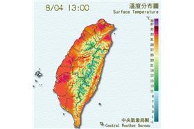 烤到變紅番薯!台灣7月均溫創歷史新高 鄭明典:打破紀錄(氣象局)