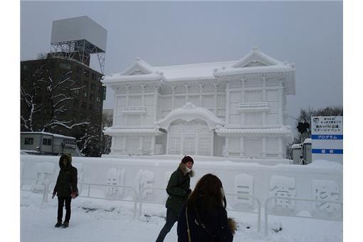 雪雕(來源Flickr:David McKelvey+Ian Irving)