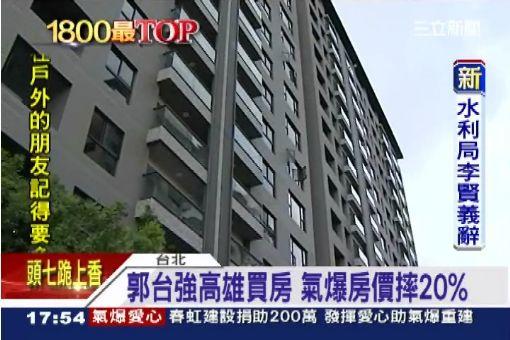郭台強高雄買房 氣爆房價摔20%