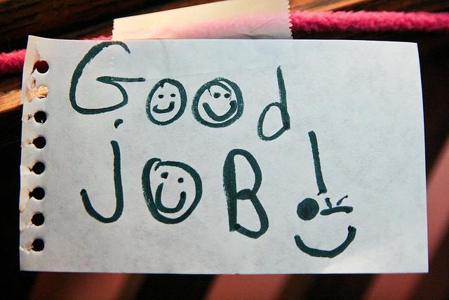 GOOD JOB,快樂,工作,留言(FLICKR-Steven Depolo)