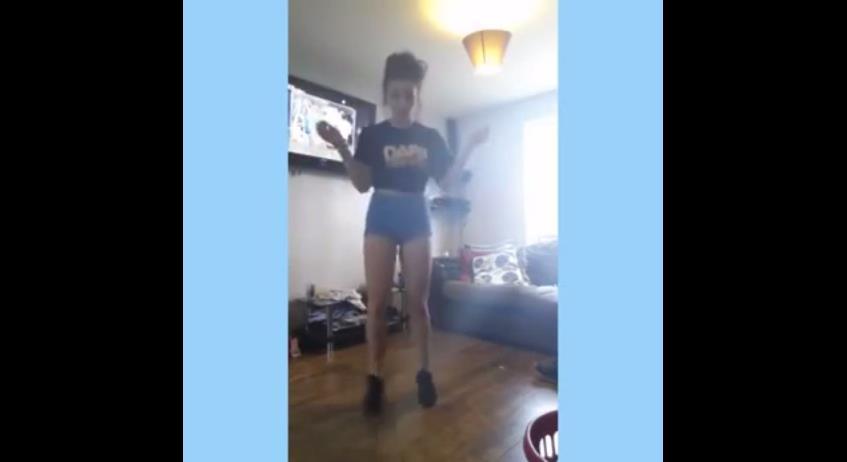 大胸女教跳舞/翻攝自YouTube