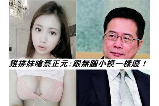 雞排妹嗆蔡正元:跟無腦小模一樣廢!(臉書)