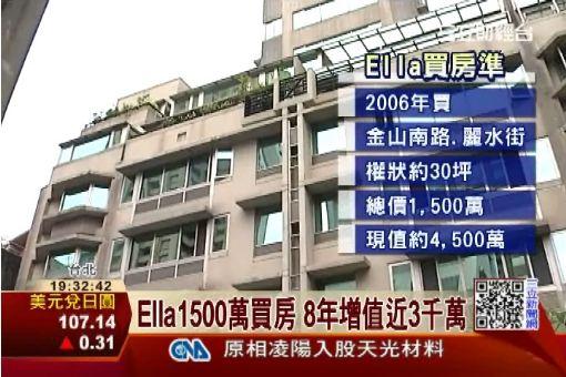 Ella1500萬買房 8年增值近3千萬