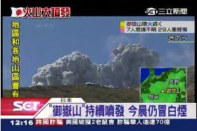 日火山續噴1200