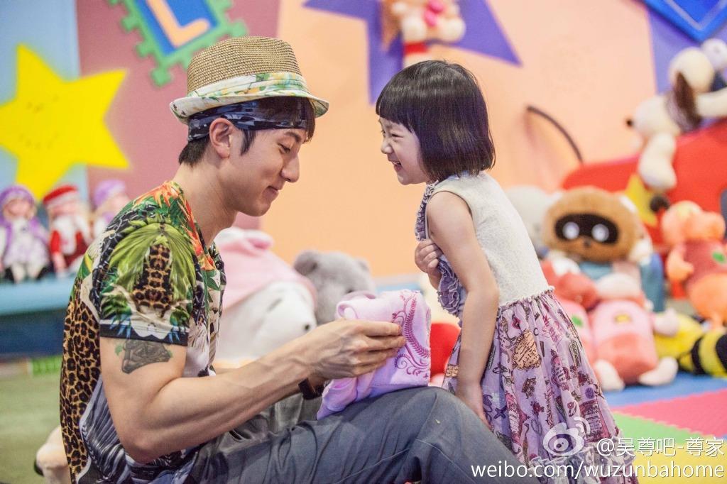 吳尊與女兒/微博