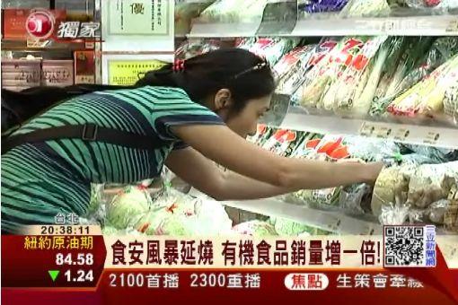 食安風暴延燒 有機超市銷量增一倍