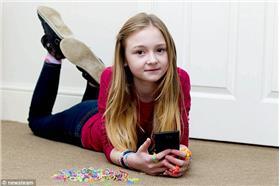 崔妮蒂彩色橡皮筋/翻攝自英國《每日郵報》