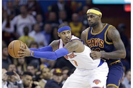 左起為Carmelo Anthony與LeBron James(圖/美聯社/達志影像)