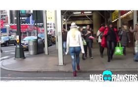 女模沒穿褲(ModelPrankstersTV youtube)