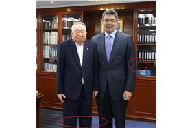 連勝文.長榮總裁張榮發合照疑造假_PTT