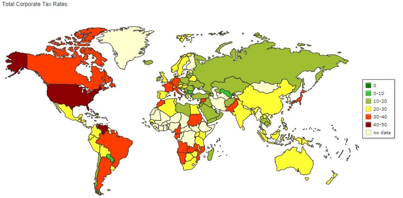 世界稅率地圖-dadaviz.com