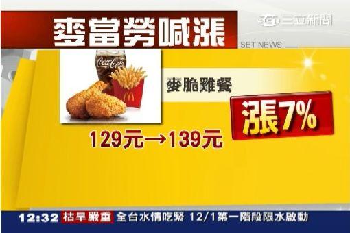 麥當勞漲價1200