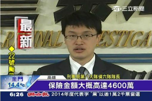 為4600萬保險金 嫩妻偕小王殺夫