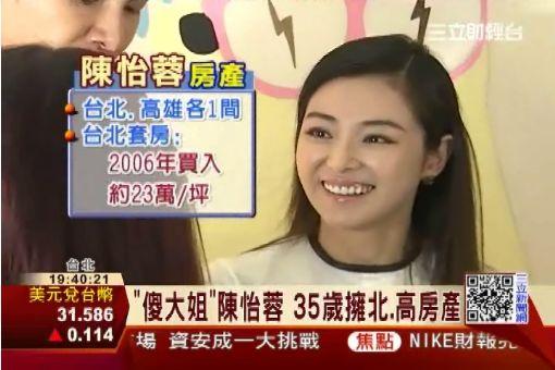 """""""傻大姐""""陳怡蓉 35歲擁北.高房產"""