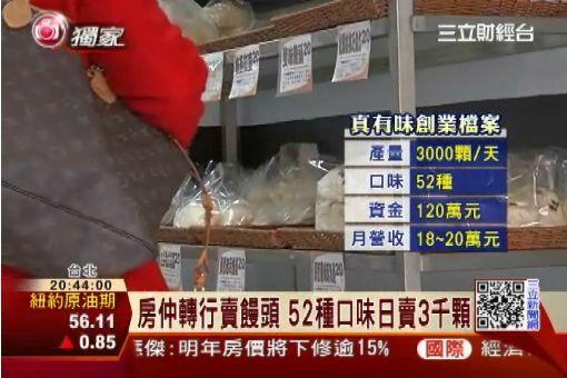 房仲40歲轉行賣饅頭 月營收20萬