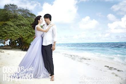 李晟、李佳航婚紗照-時尚新娘COSMOBride微博