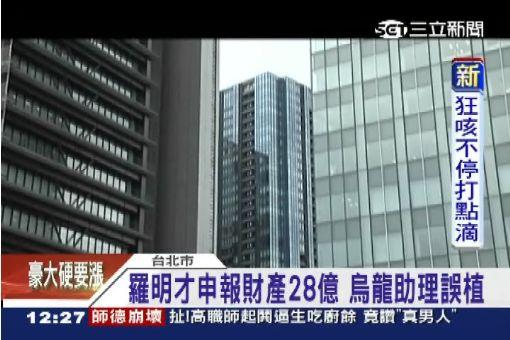 羅明才申報財產28億 烏龍助理誤植