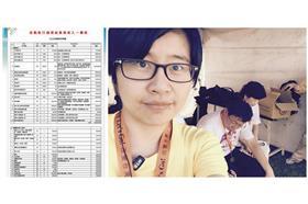 楊蕙如、健走活動的「活動執行細項結算與收入一欄表」/楊蕙如臉書