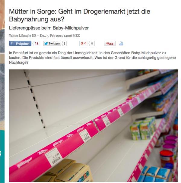 德國奶粉,中國大媽, (網路截圖)